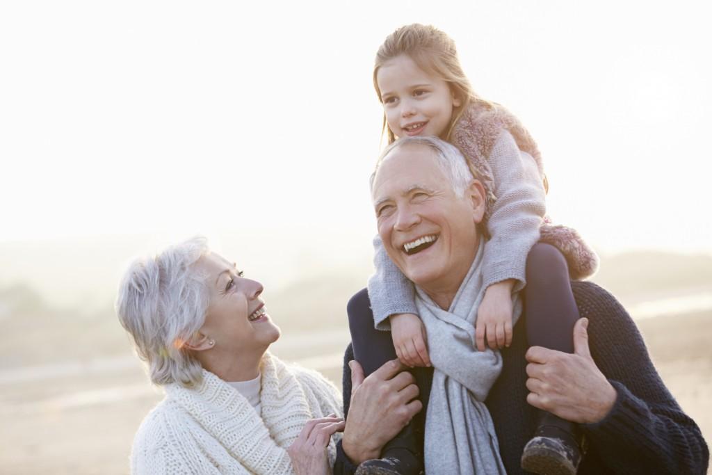bunicii si copii
